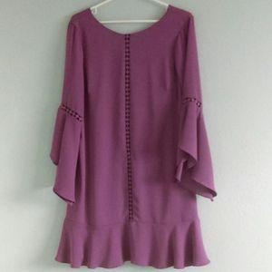 Flowy Dainty Romantic Mauve Pink Dress